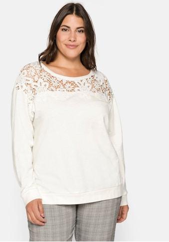 Sheego Sweatshirt, aus leichter Baumwollqualität kaufen