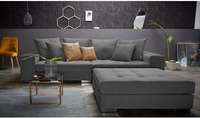 INOSIGN Big-Sofa »Vale«, mit Steppung im Sitzbereich, Federkern und Zierkissen kaufen