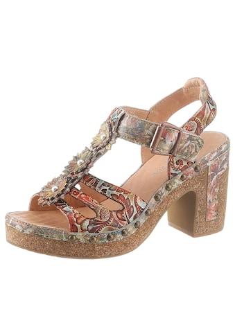 LAURA VITA High-Heel-Sandalette »Hecalo«, mit modischen Zierblüten kaufen