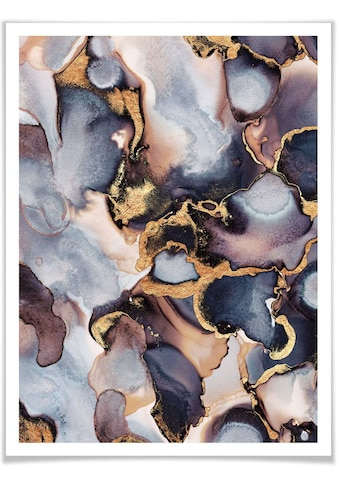 Wall-Art Poster »Gold Effekt Tinte Rosé Farbverlauf«, Marmor, (1 St.), Poster,... kaufen