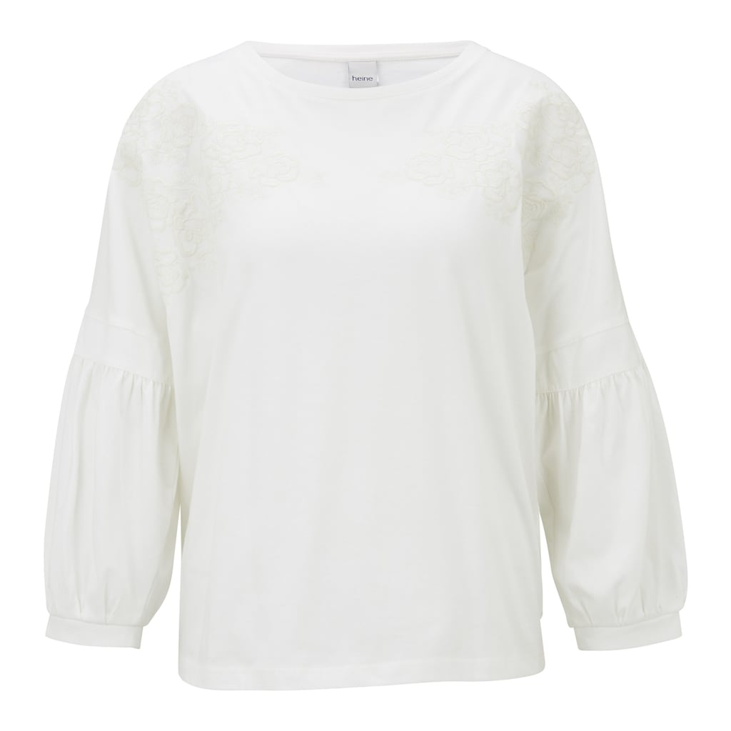 LINEA TESINI by Heine Sweatshirt, mit Stickerei