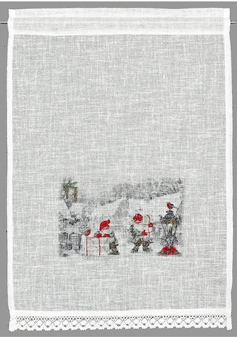 HOSSNER - ART OF HOME DECO Scheibengardine »Wichtel«, HxB: 90x40, weihnachtlicher... kaufen