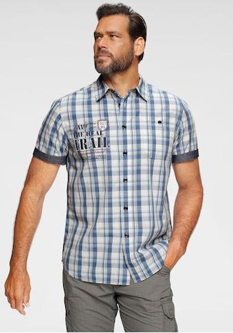 Man's World Kurzarmhemd, Mit Chambray-Einsätzen an den Ärmeln kaufen