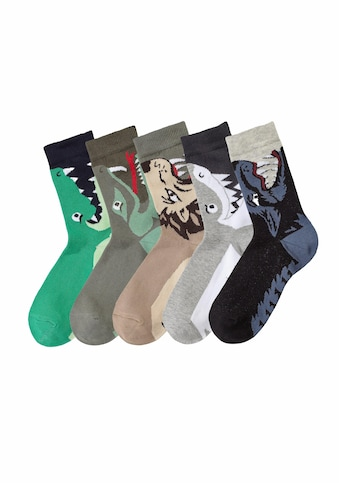 Socken, (5 Paar), mit Tiermotiven kaufen