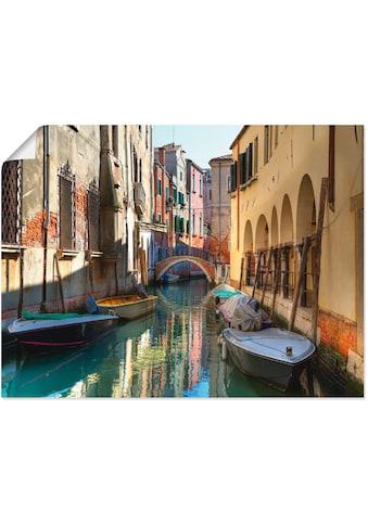 Artland Wandbild »Boote auf Kanal in Venedig«, Italien, (1 St.), in vielen Grössen &... kaufen