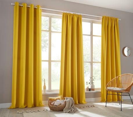 Verdunkelungsvorhang in Gelb