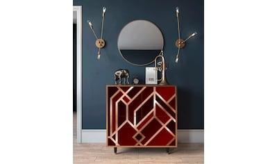 Places of Style Kommode »Velvet«, mit dekorativem Print auf den Türen kaufen