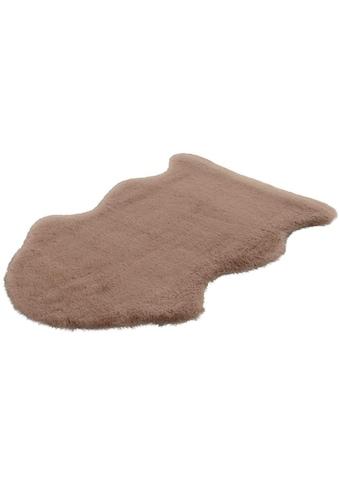 LALEE Hochflor-Teppich »Cosy Fell 500«, fellförmig, 27 mm Höhe, Fellform, Wohnzimmer kaufen
