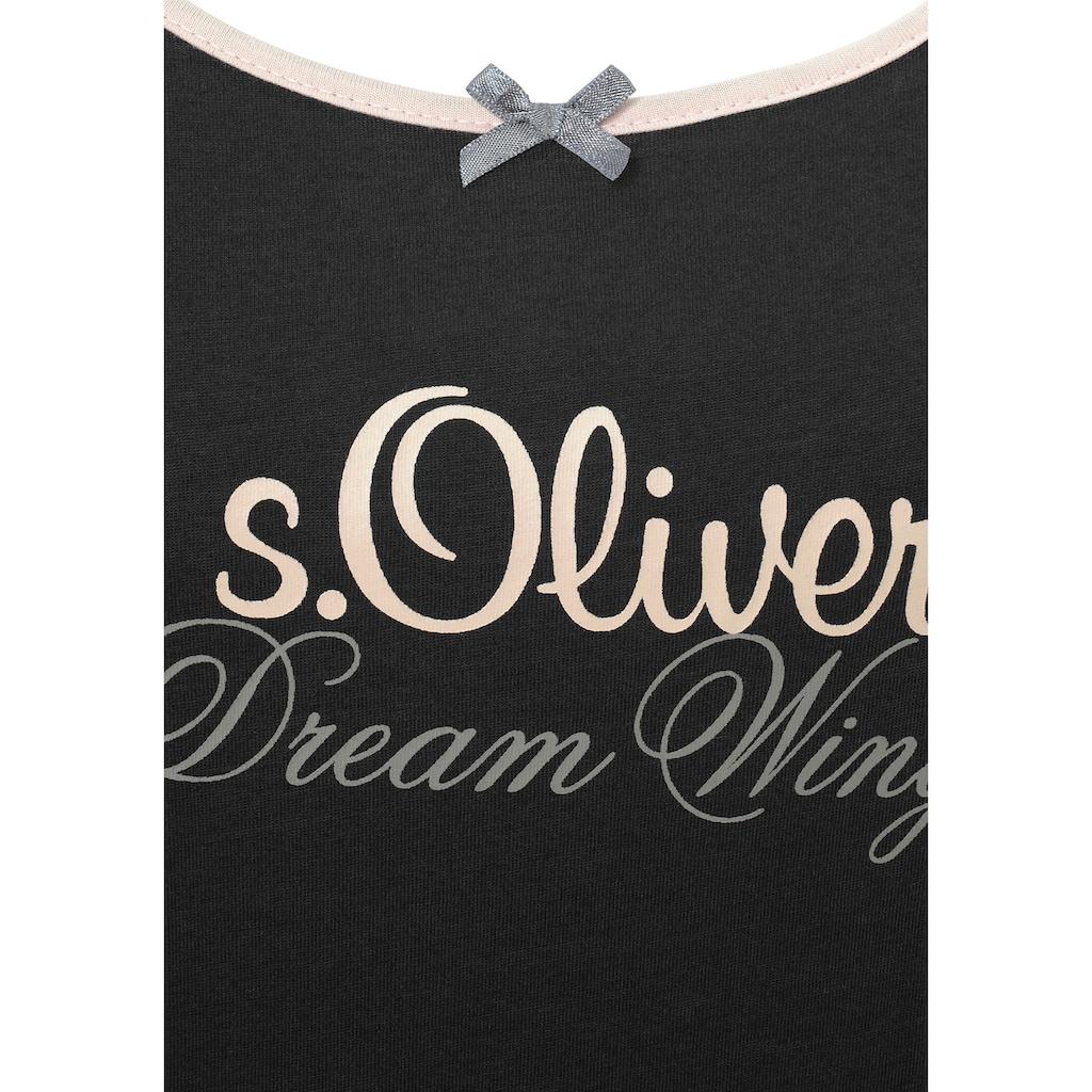 s.Oliver Bodywear Nachthemd, mit Rundhalsausschnitt