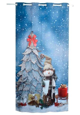 Lüttenhütt Verdunkelungsvorhang »SNOWMAN«, Nachhaltige Kindergardine kaufen