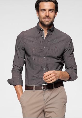 TOMMY HILFIGER Langarmhemd »SLIM MICRO PRINT TWILL SHIRT« kaufen