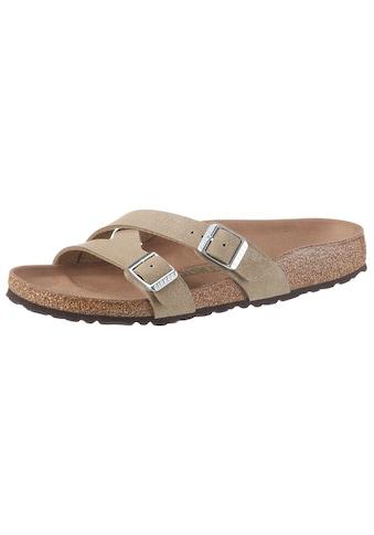 Birkenstock Pantolette »YAO«, mit ergonomisch geformtem Fussbett, Schuhweite: schmal kaufen