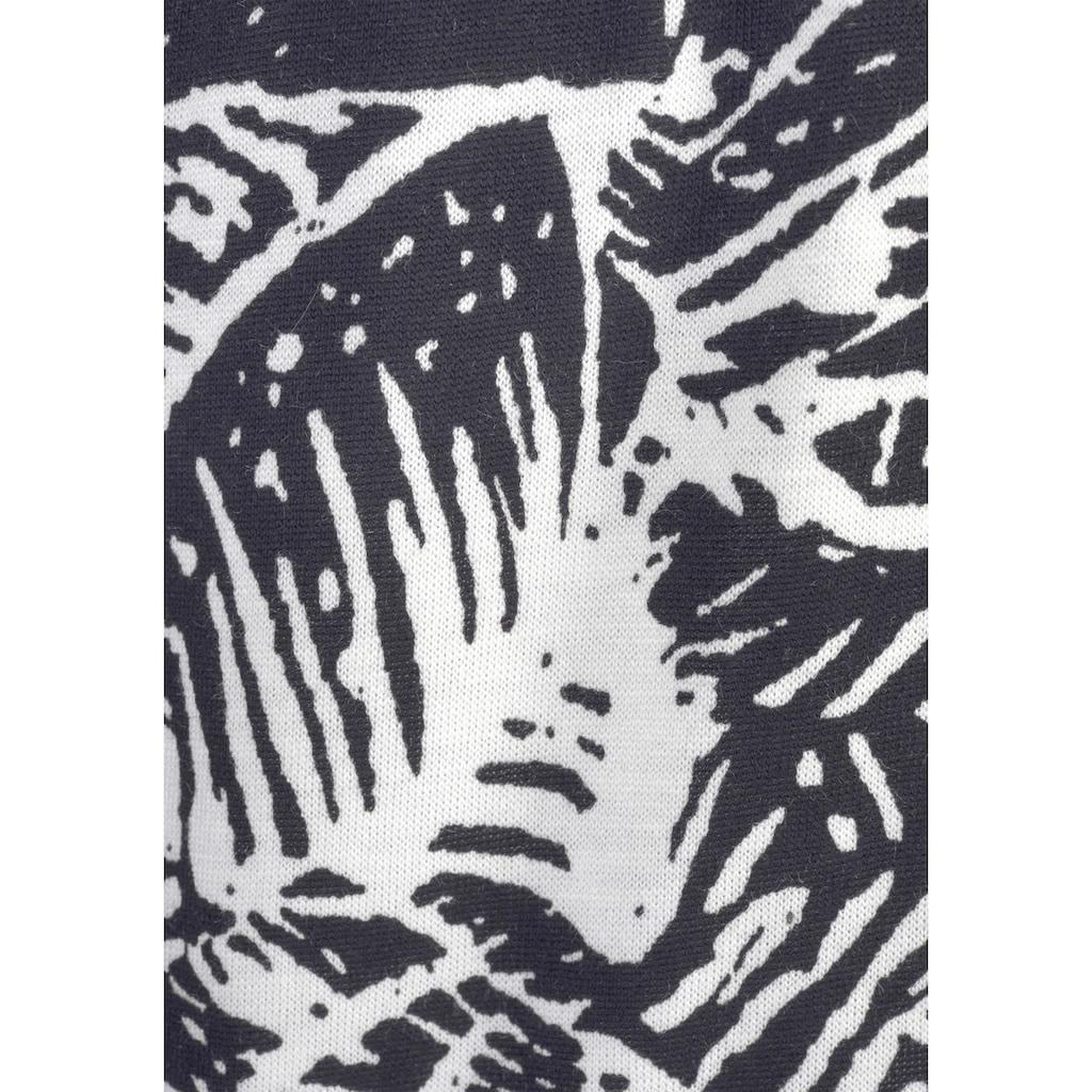 Buffalo Strandhose, mit Blätterdruck