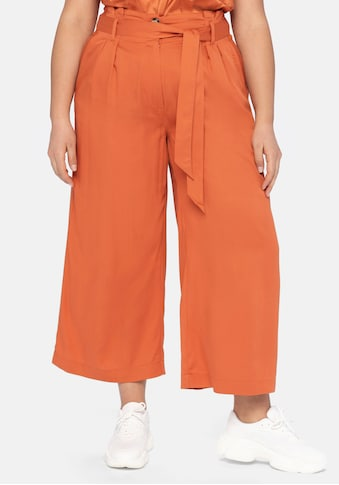 Sheego Culotte, mit Bundfalten und Paperbag-Bund kaufen