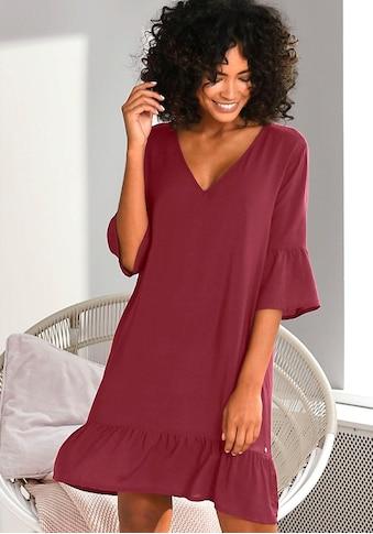 s.Oliver Bodywear Nachthemd, im Allover-Muster mit Rüschensäumen kaufen