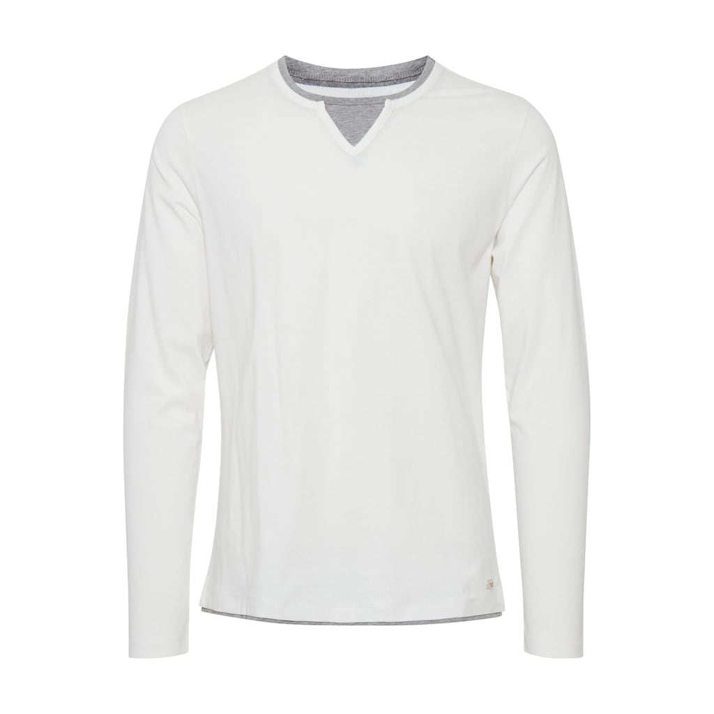 Blend Langarmshirt »Leonas«, Longsleeve mit Double-Layer-Optik