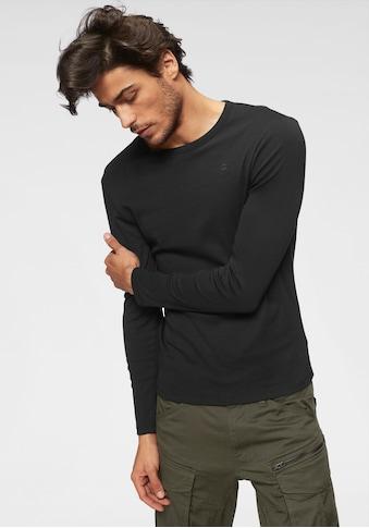 G-Star RAW Langarmshirt, Basic-Artikel aus blickdichter, hochwertiger Baumwollqualität kaufen