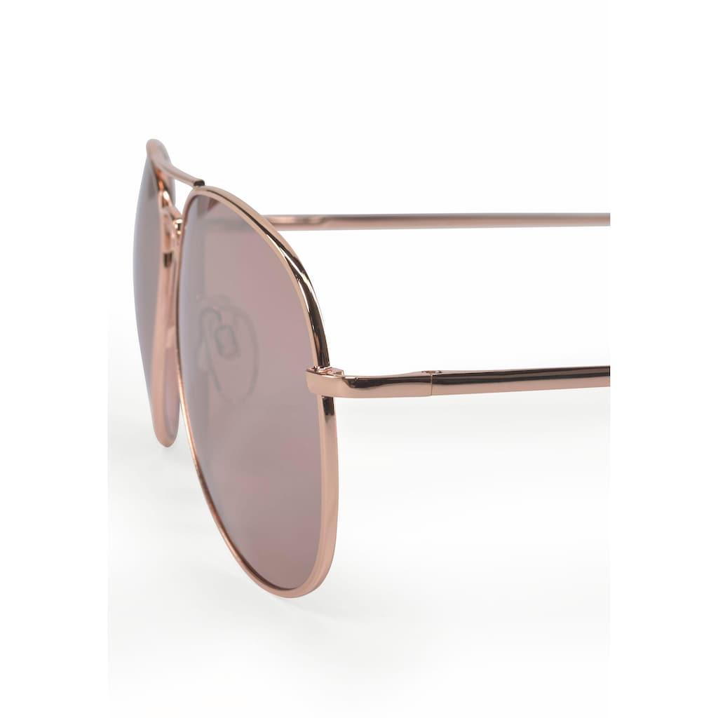 J.Jayz Sonnenbrille, Fliegerbrille, Aviator Look, Pilotenform, Gläser verspiegelt