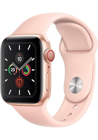 Watch Series 5 GPS + Cellular, Aluminium goldfarben, 40 mm mit Sportarmband, Apple kaufen