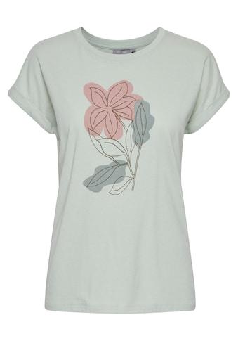 fransa T-Shirt »Fransa Damen Shirt mit floralem Print«, T-Shirt mit Print kaufen