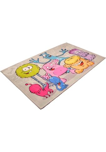 Böing Carpet Kinderteppich »Lovely Kids 417«, rechteckig, 6 mm Höhe, Motiv Aliens kaufen