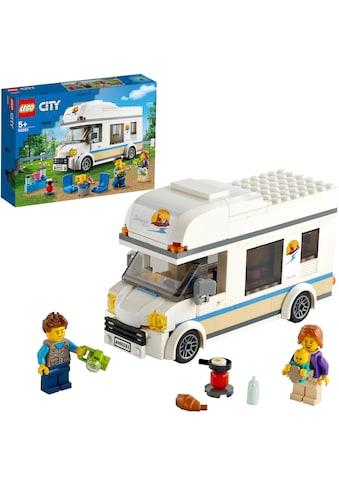 LEGO® Konstruktionsspielsteine »Ferien-Wohnmobil (60283), LEGO® City«, (190 St.), Made... kaufen