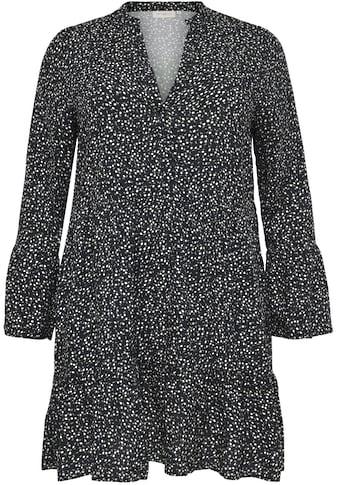 ONLY CARMAKOMA Jerseykleid, mit Volants an Ärmeln und Saum kaufen