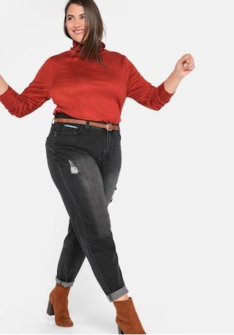 Sheego Stretch-Jeans, Mom mit Destroyed-Effekten kaufen