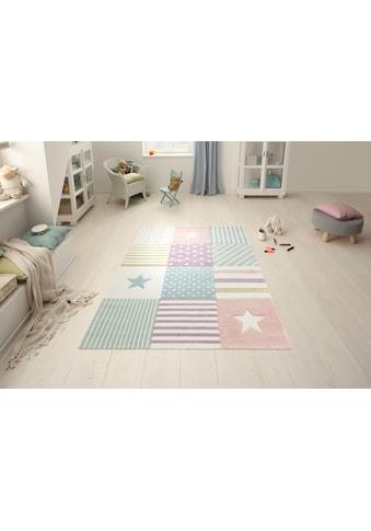Lüttenhütt Kinderteppich »Stern«, rechteckig, 13 mm Höhe, handgearbeiteter... kaufen