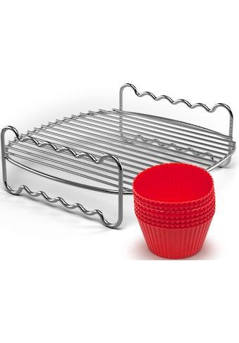 Philips Grillrost »+ Muffincups, HD9904/01 Party-Kit«, Edelstahl-Silikon, passend für... kaufen
