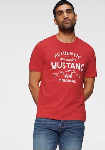 MUSTANG T-Shirt, mit grossem Logofrontprint kaufen
