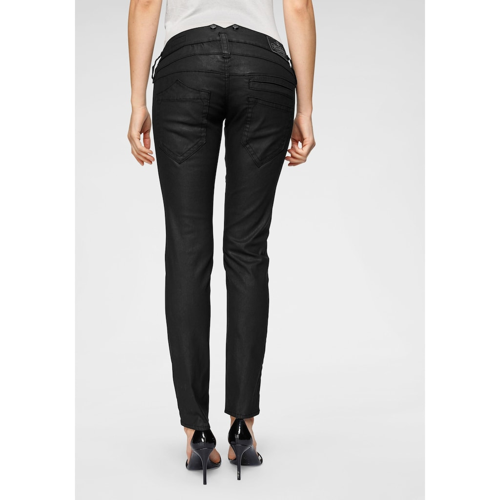 Herrlicher Slim-fit-Jeans »PITCH SLIM«, in Leder-Optik