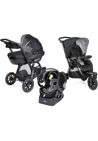 Chicco Kombi-Kinderwagen »Trio-System Activ3 Top, Jet Black«, 15 kg, mit Regenschutz;... kaufen