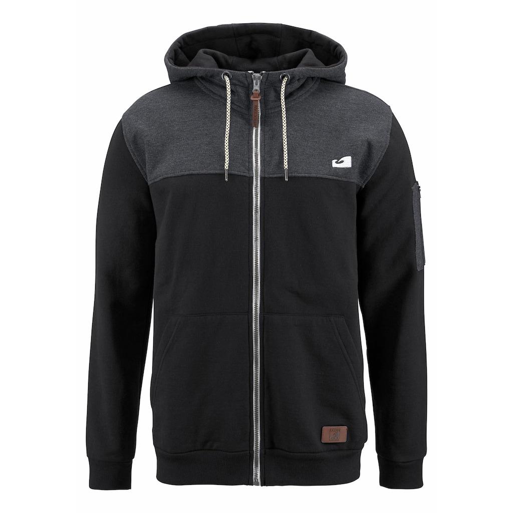 Ocean Sportswear Kapuzensweatjacke, Innen weich angeraut