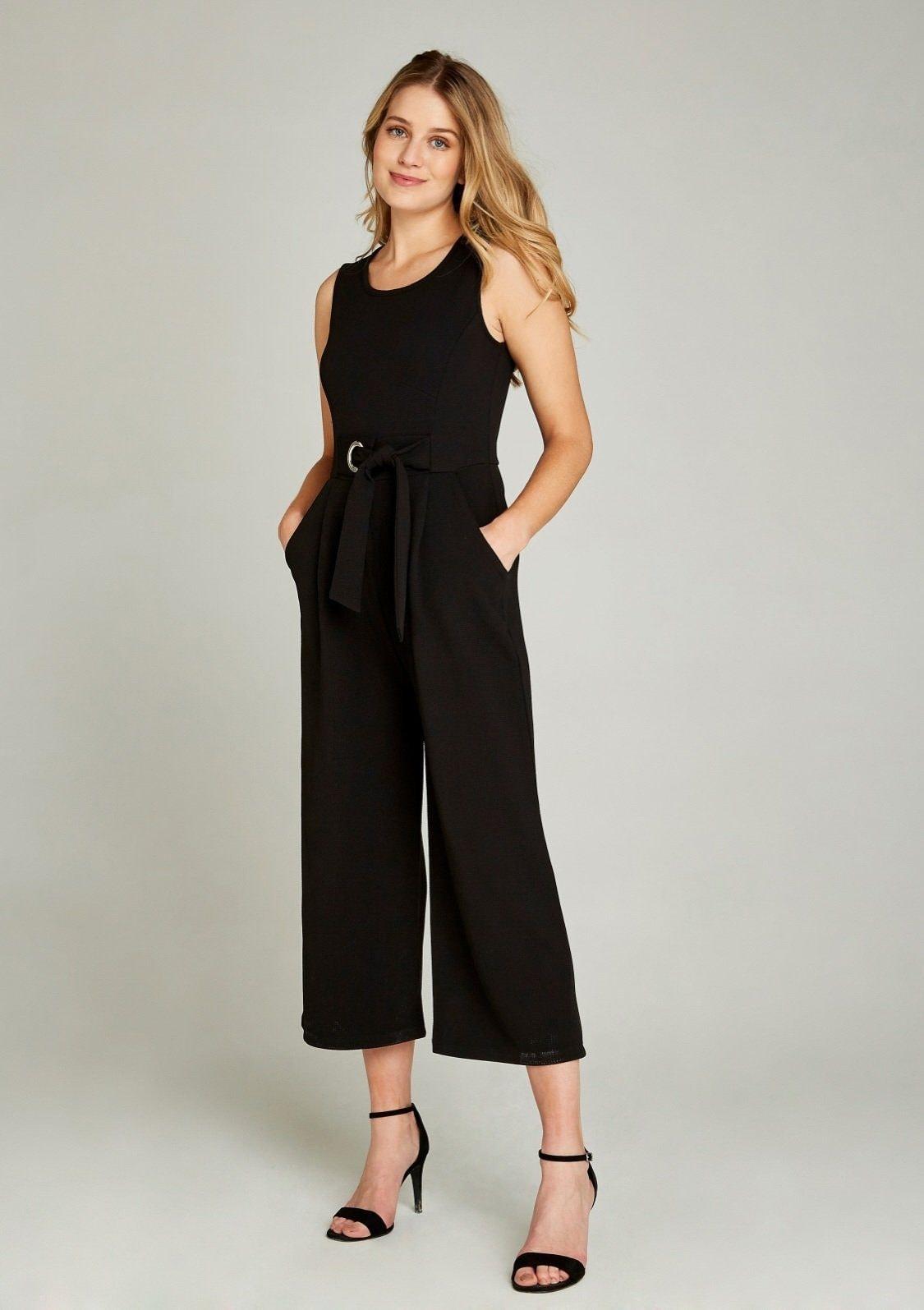 Image of Apricot Jumpsuit »Culotte Jumpsuit with Tie Waist«
