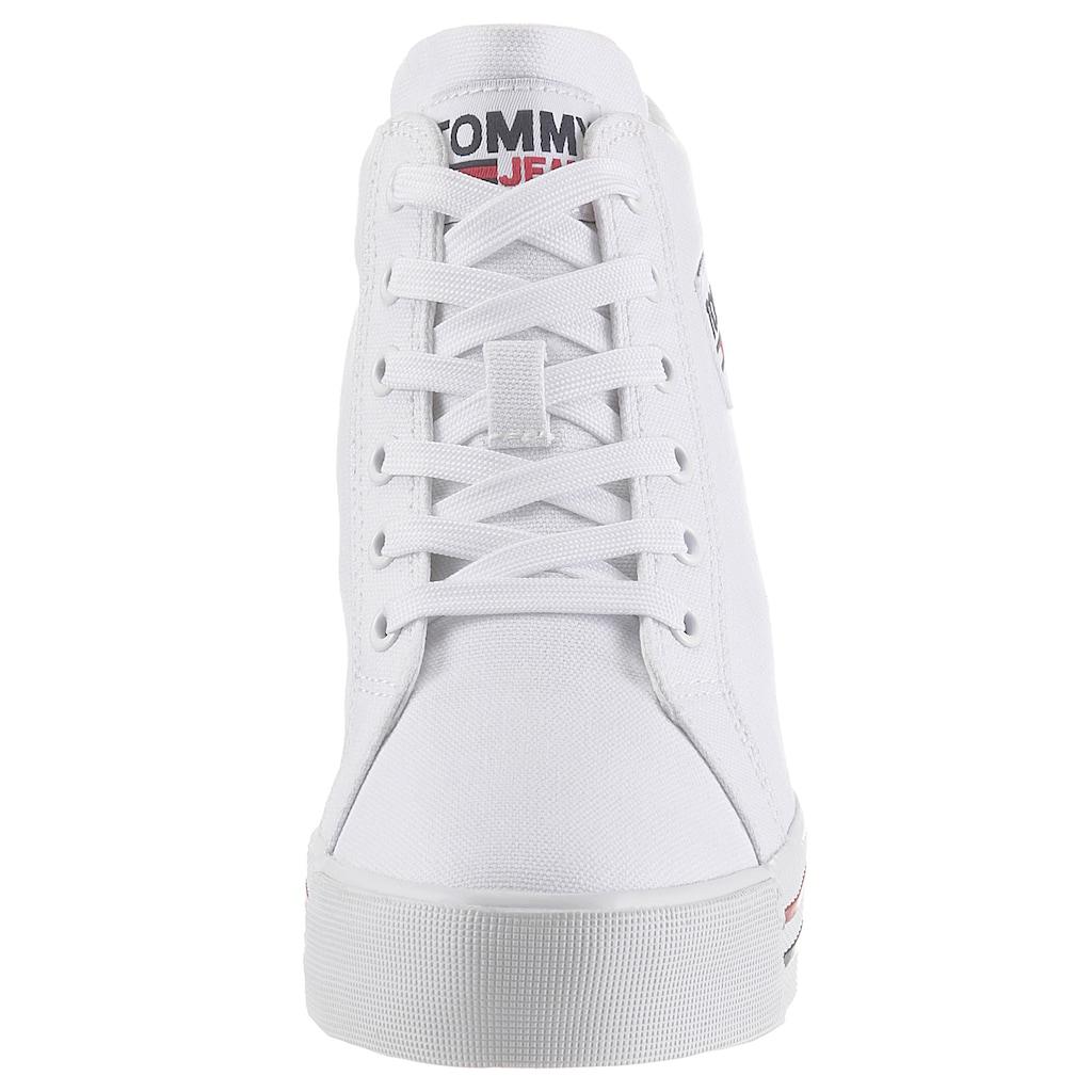 TOMMY JEANS Wedgesneaker »TOMMY JEANS WEDGE SNEAKER«, mit Logoschriftzug
