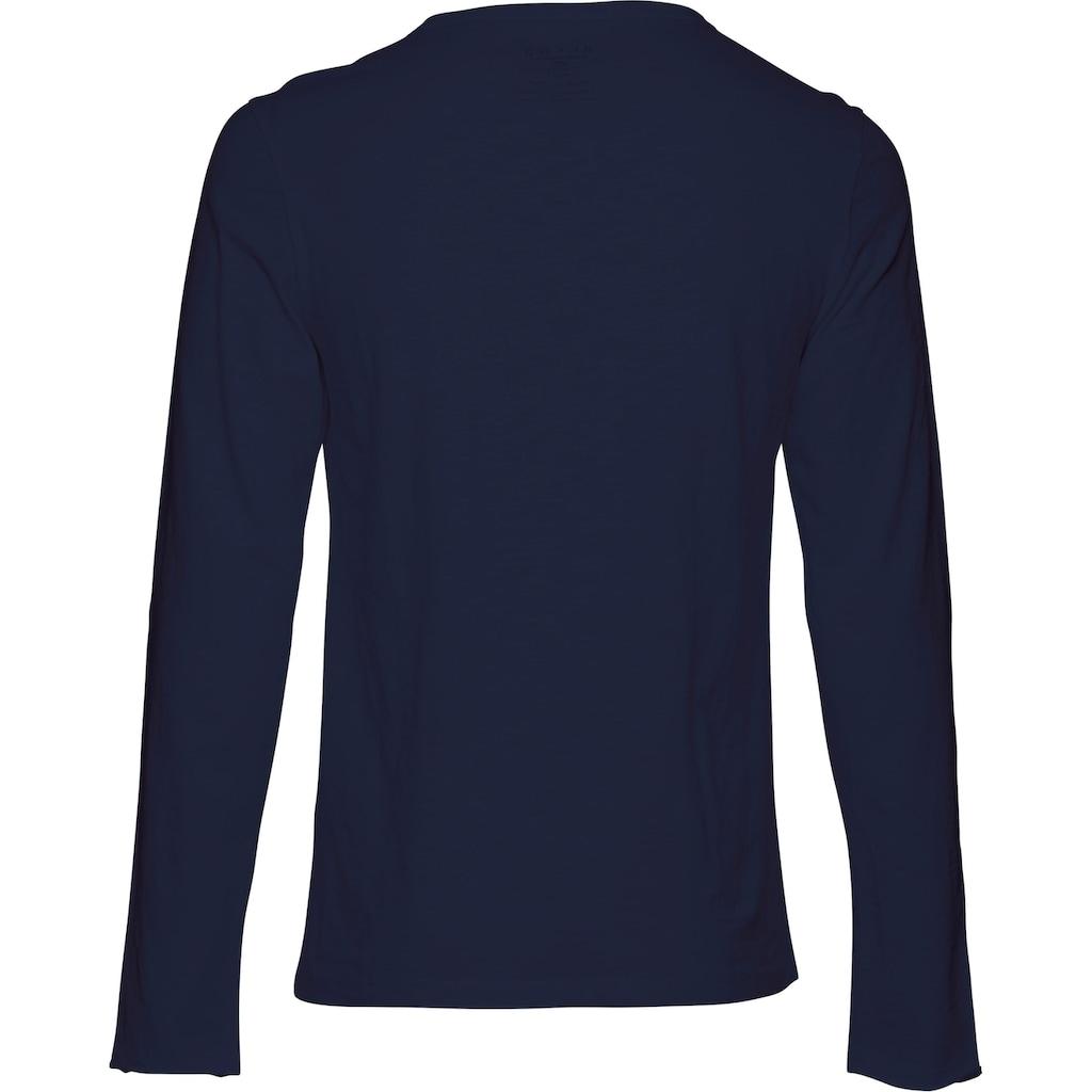 Blend Langarmshirt, aus Slubyarn