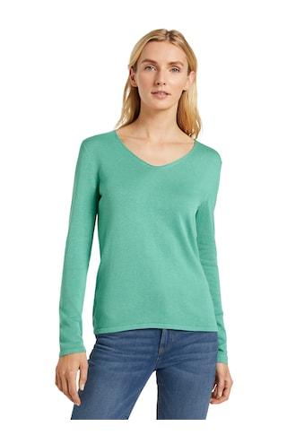 TOM TAILOR V-Ausschnitt-Pullover, mit trendy V-Ausschnitt kaufen