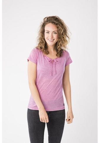 SUPER.NATURAL T-Shirt »W RELAX TEE«, mit Band am Ausschnitt zum Binden, bequemer... kaufen