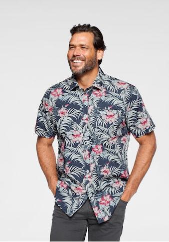 Man's World Kurzarmhemd, in Hawaii-Optik kaufen