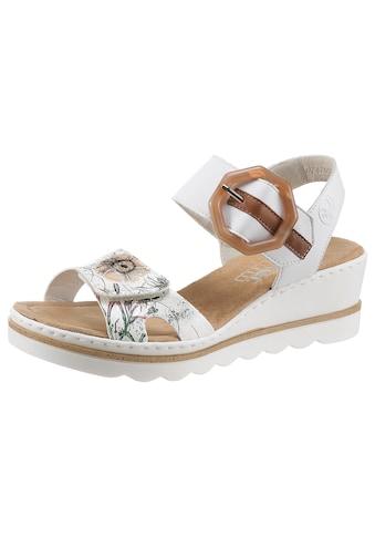 Rieker Sandalette, mit schönem Blumenmotiv kaufen