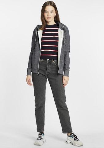 OXMO Kapuzensweatjacke »Celia«, Sweatshirtjacke mit Kapuze kaufen