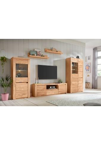 Premium collection by Home affaire Wohnwand »Burani«, (Set, 4 St.), teilmassives Holz kaufen