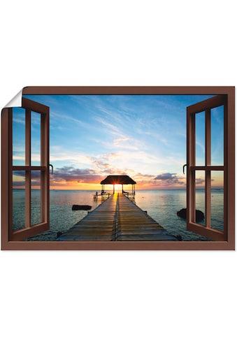Artland Wandbild »Fensterblick Steg im Gegenlicht«, Fensterblick, (1 St.), in vielen... kaufen