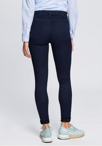 TOMMY JEANS Skinny-fit-Jeans »MID RISE SKINNY NORA BGBST«, mit Tommy Streifen auf der... kaufen