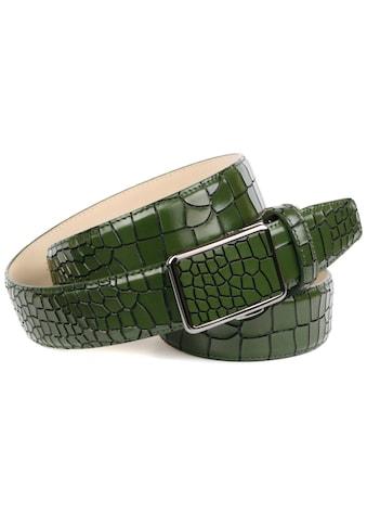 Anthoni Crown Ledergürtel, mit auffälliger Reptilien-Prägung kaufen