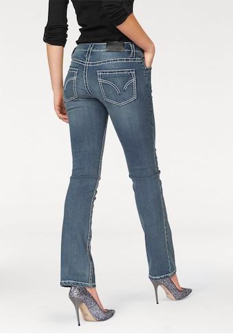 Arizona Gerade Jeans »Kontrastnähte«, Low Waist kaufen