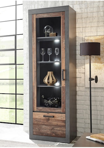 Home affaire Vitrine »BROOKLYN«, in dekorativer Rahmenoptik kaufen