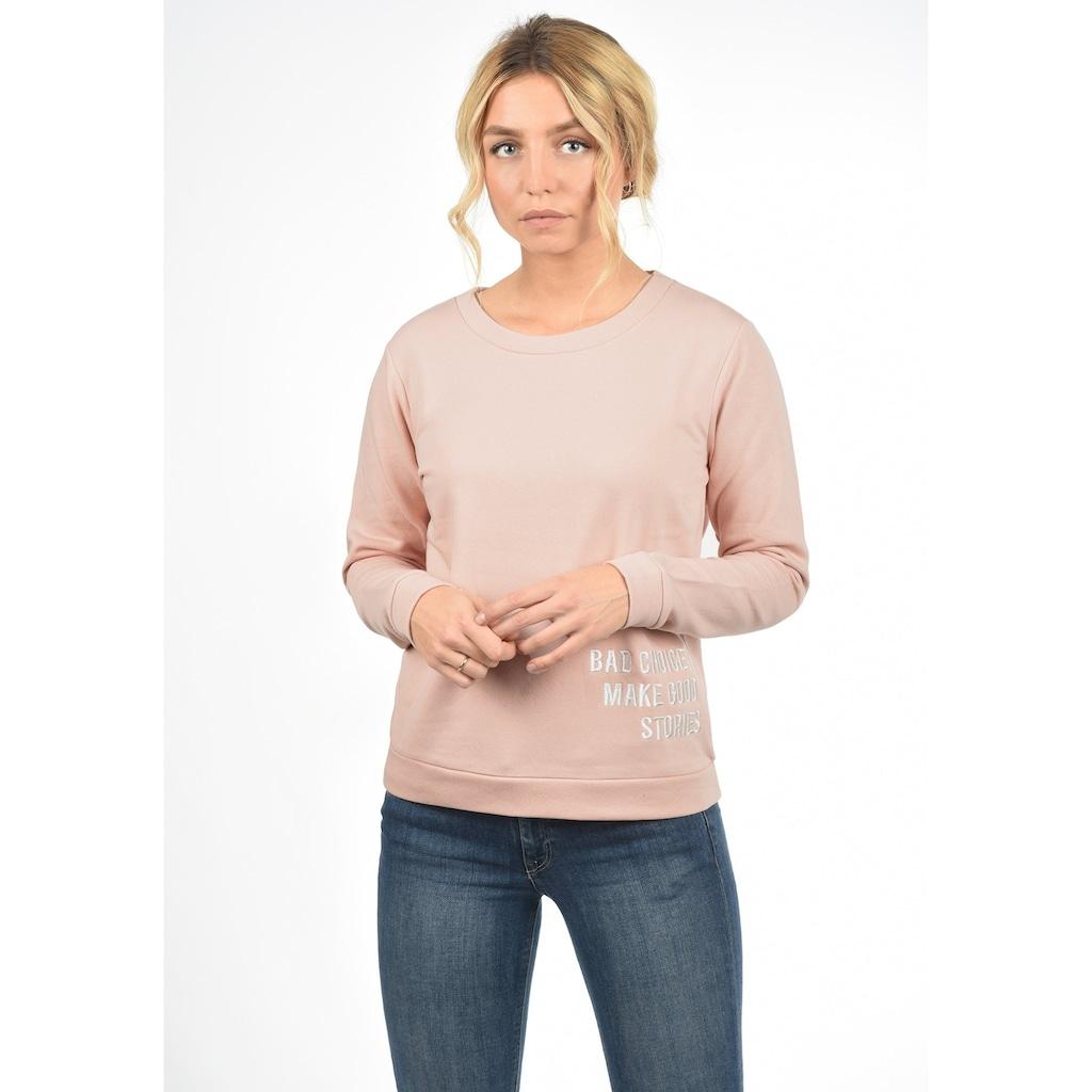 JACQUELINE de YONG Sweatshirt »Luisa«, Sweatpullover mit Spruch-Stickerei