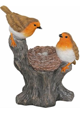 Casa Collection by Jänig Tierfigur »Rotkehlchen mit Nest auf einem Stamm sitzend,... kaufen